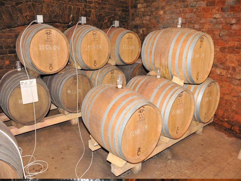 Zrání vína V této fázi se dotváří chuť a aroma vína. Průběh zrání je ovlivňován vlivem kyslíku, tedy mikrooxidací – pozvolné okysličování umožňují sud