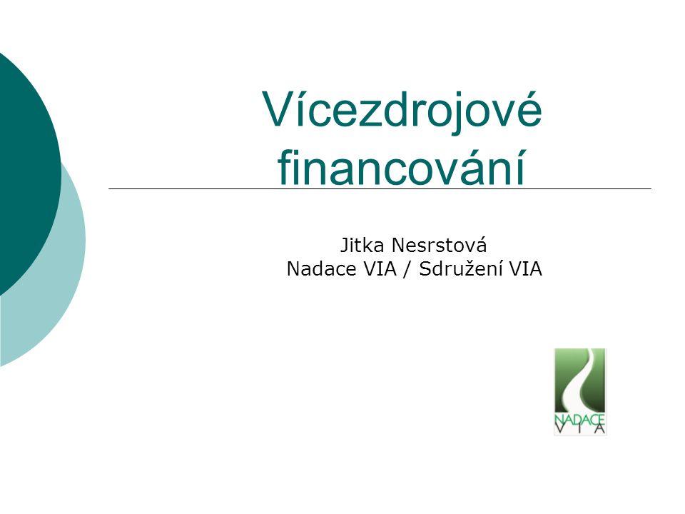 Vícezdrojové financování Jitka Nesrstová Nadace VIA / Sdružení VIA