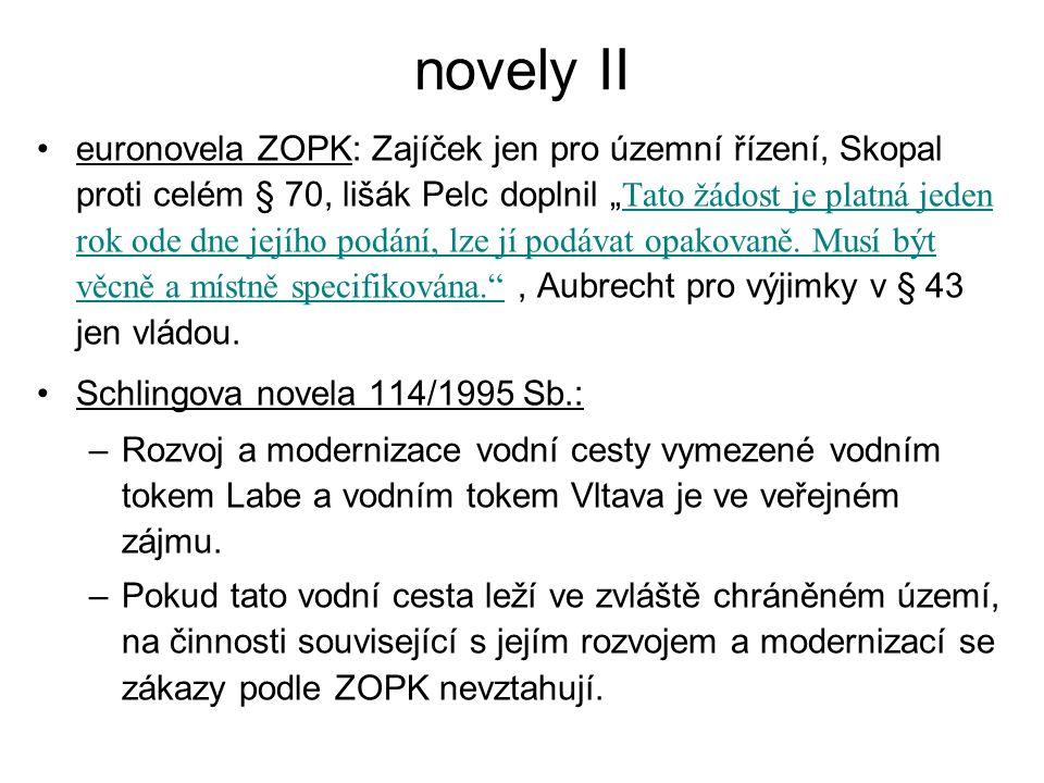 """novely II euronovela ZOPK: Zajíček jen pro územní řízení, Skopal proti celém § 70, lišák Pelc doplnil """" Tato žádost je platná jeden rok ode dne jejího"""