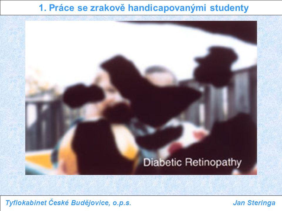 1. Práce se zrakově handicapovanými studenty Tyflokabinet České Budějovice, o.p.s.Jan Steringa