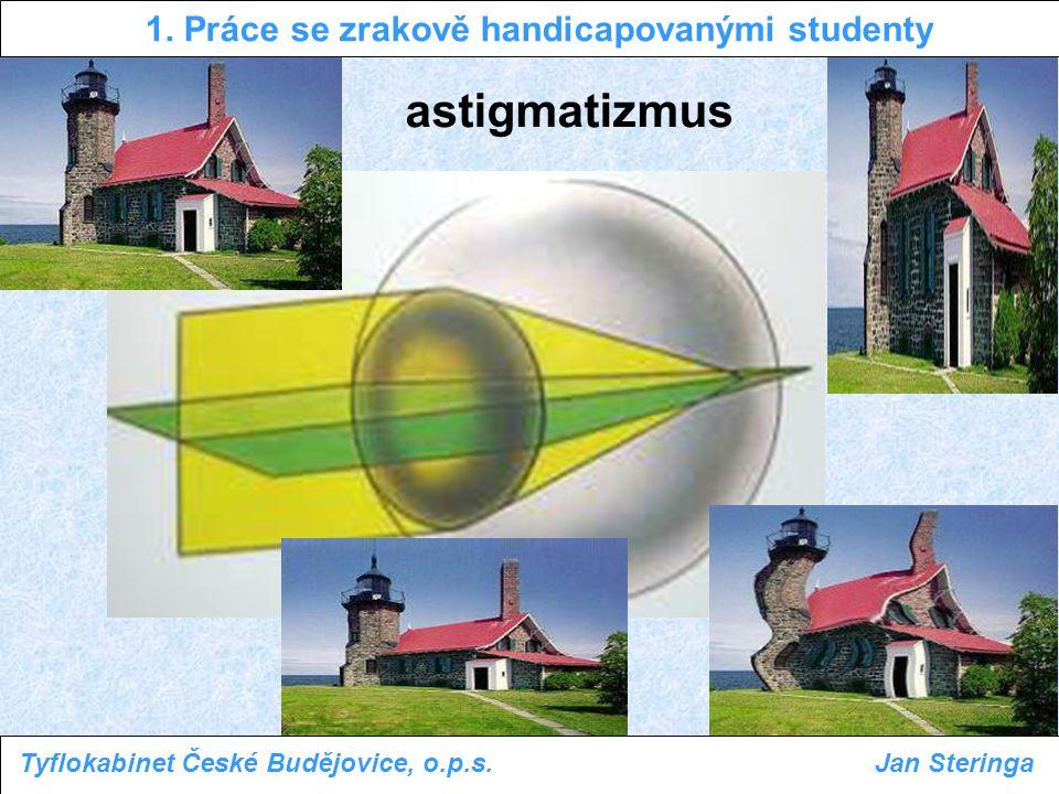 1. Práce se zrakově handicapovanými studenty Tyflokabinet České Budějovice, o.p.s.Jan Steringa astigmatizmus