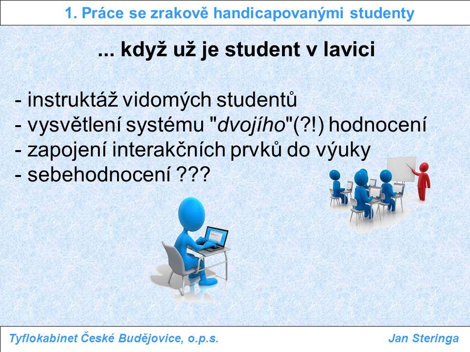 1.Práce se zrakově handicapovanými studenty Tyflokabinet České Budějovice, o.p.s.Jan Steringa...