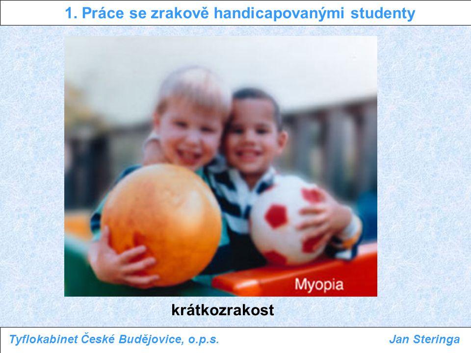 1. Práce se zrakově handicapovanými studenty Tyflokabinet České Budějovice, o.p.s.Jan Steringa krátkozrakost