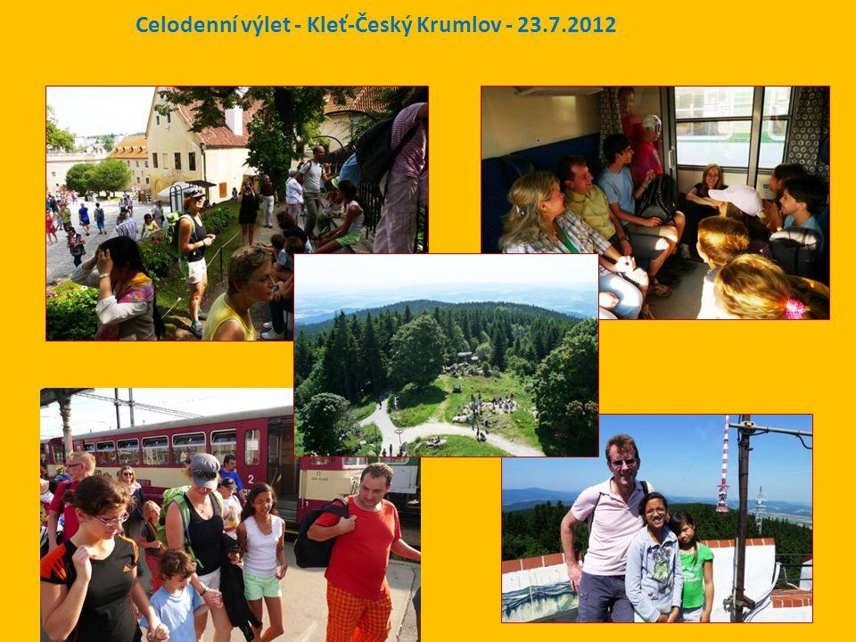 Celodenní výlet - Kleť-Český Krumlov - 23.7.2012