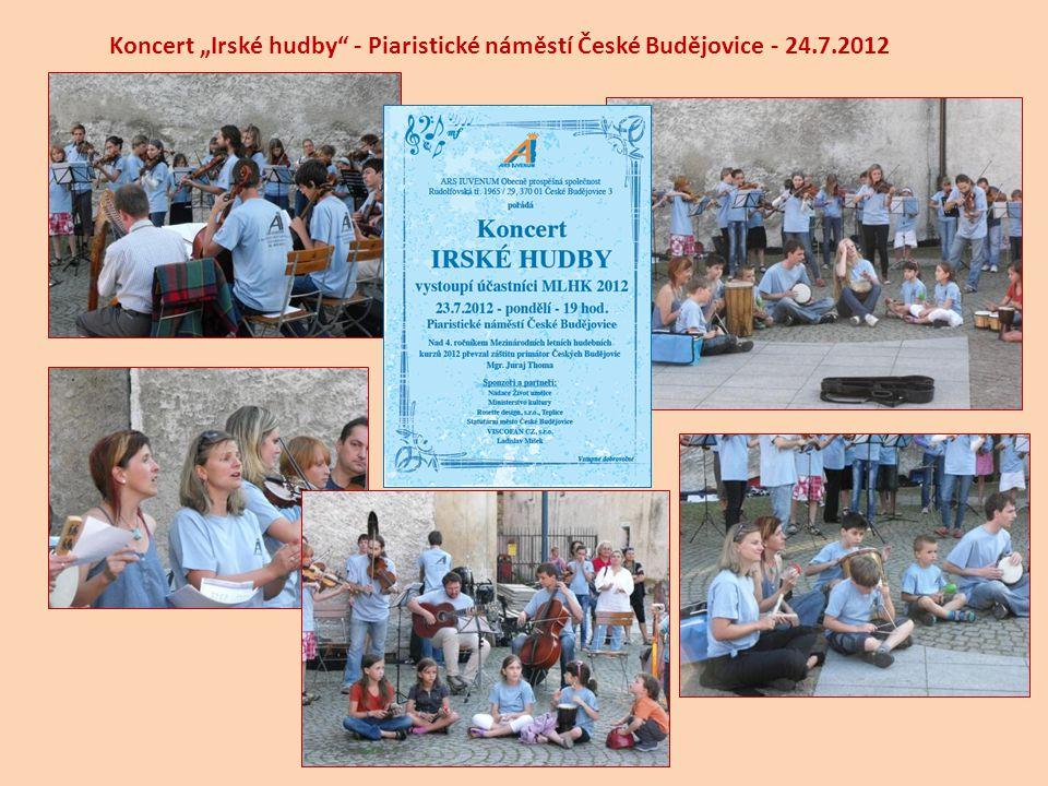 """Koncert """"Irské hudby"""" - Piaristické náměstí České Budějovice - 24.7.2012"""