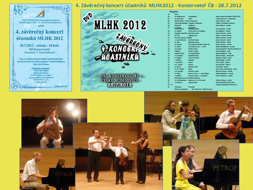 4. Závěrečný koncert účastníků MLHK2012 - Konzervatoř ČB - 28.7.2012