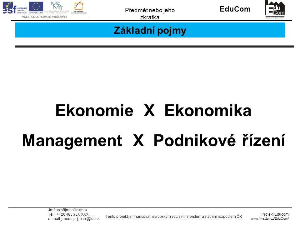 INVESTICE DO ROZVOJE VZDĚLÁVÁNÍ EduCom Projekt Educom www.kvs.tul.cz/EduCom/ Tento projekt je financován evropským sociálním fondem a státním rozpočtem ČR Předmět nebo jeho zkratka Jméno příjmení lektora Tel.: +420 485 35X XXX e–mail: jmeno.prijmeni@tul.cz Příklad 3: řešení 3/3 Dále jsou podíly na zisku daněny DPFO (pro rok 2013 sazba 15 %).
