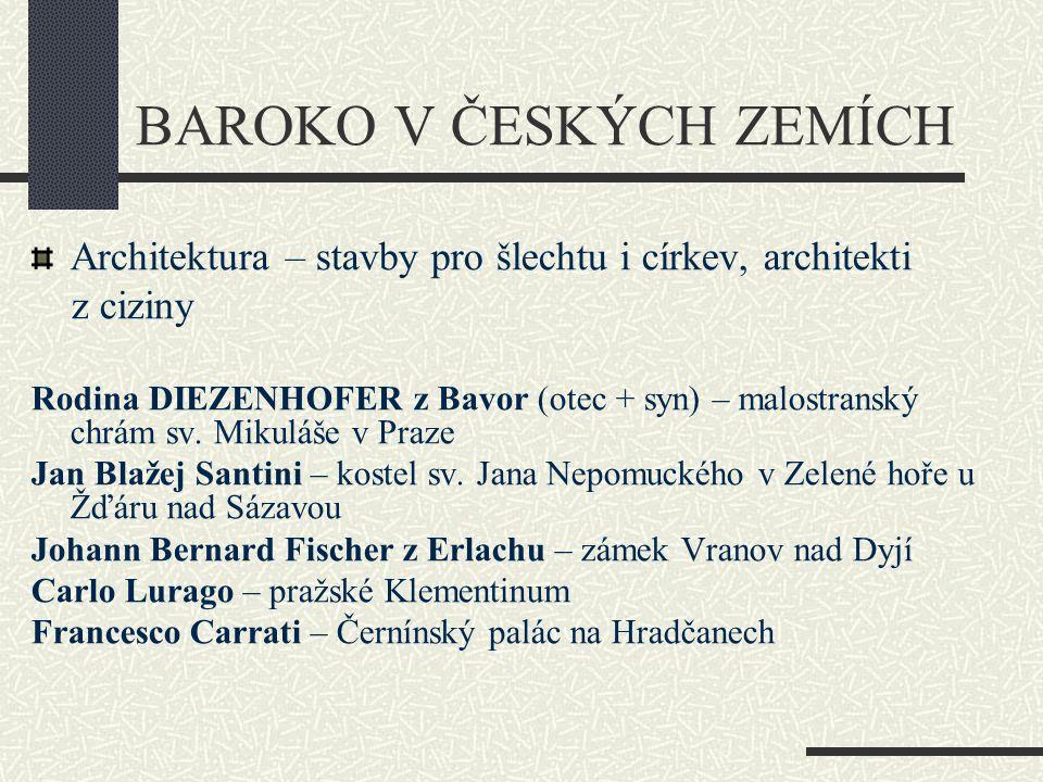 Lidové (selské) baroko – bohatí sedláci si přestavovali své statky Česká vesnice Holašovice byla pro svou nádhernou lidovou architekturu zapsána na seznam památek Unesco.