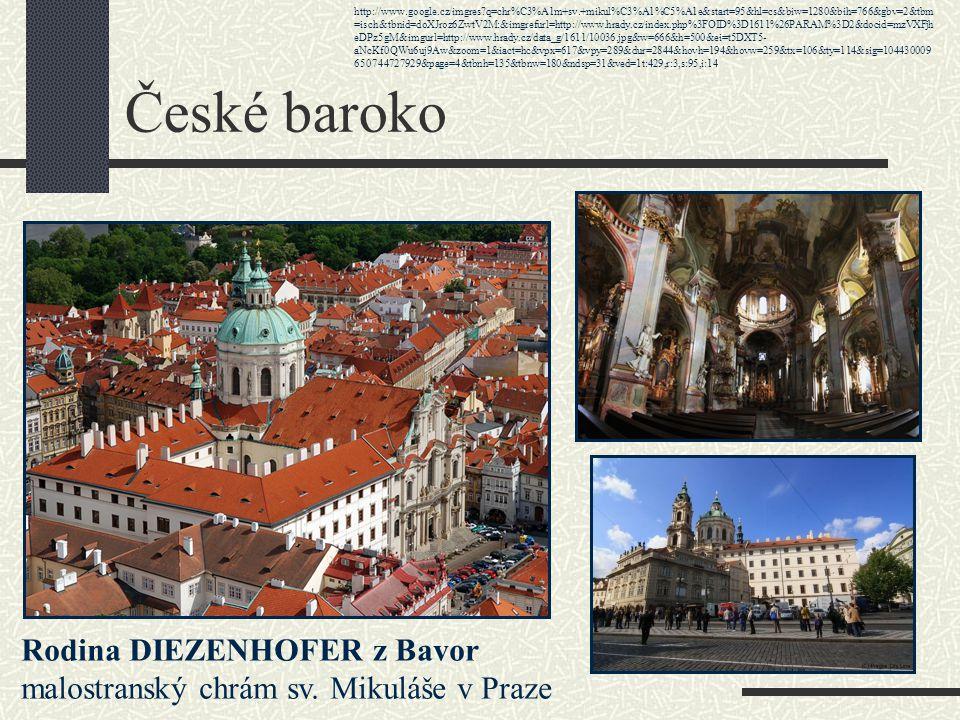 Téma: Baroko v českých zemích - 8.ročník Použitý software: držitel licence - ZŠ J.