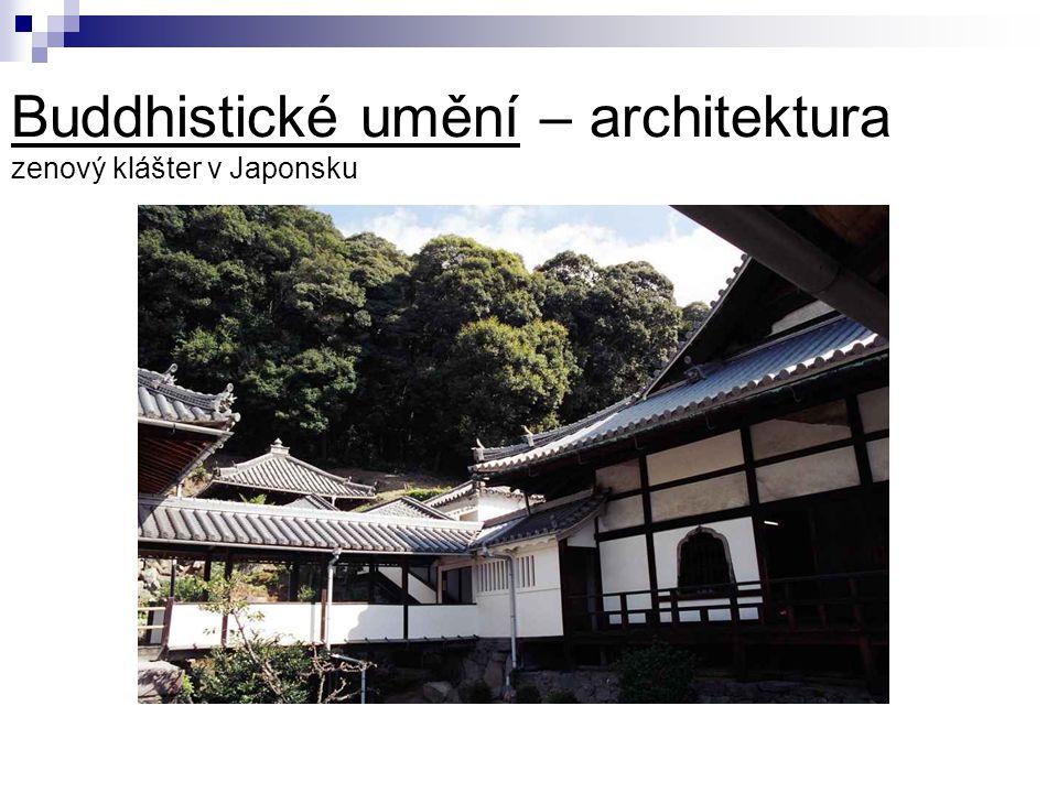Buddhistické umění – architektura zenový klášter v Japonsku