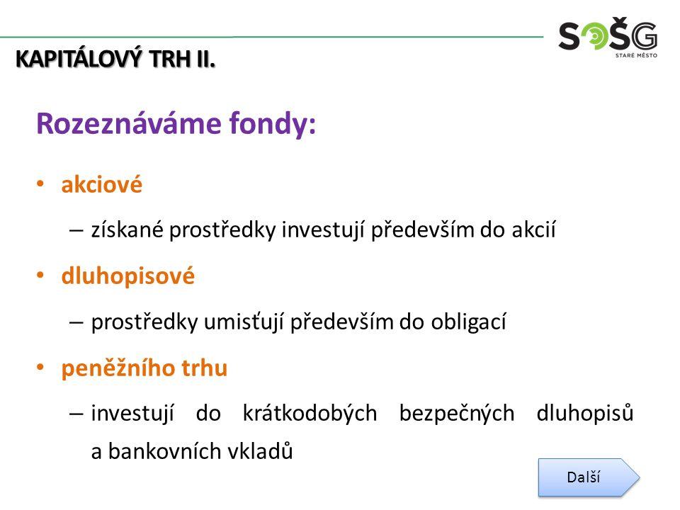 KAPITÁLOVÝ TRH II.