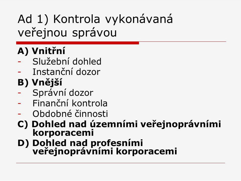 Literatura Povinná:  Sládeček, V.Obecné správní právo.