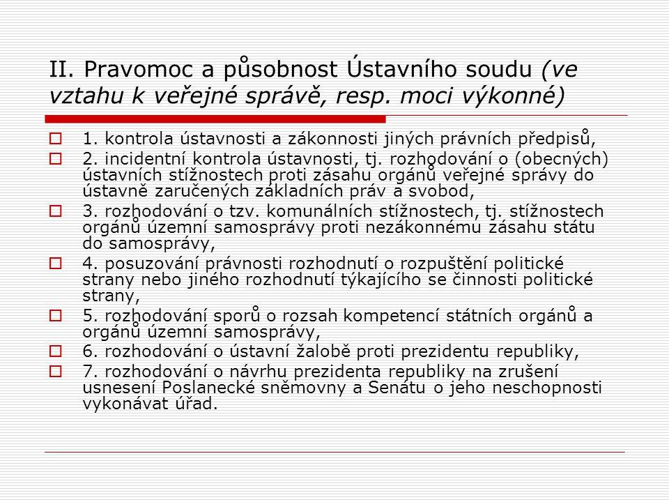 1.Kontrola ústavnosti a zákonnosti jiných právních předpisů (čl.