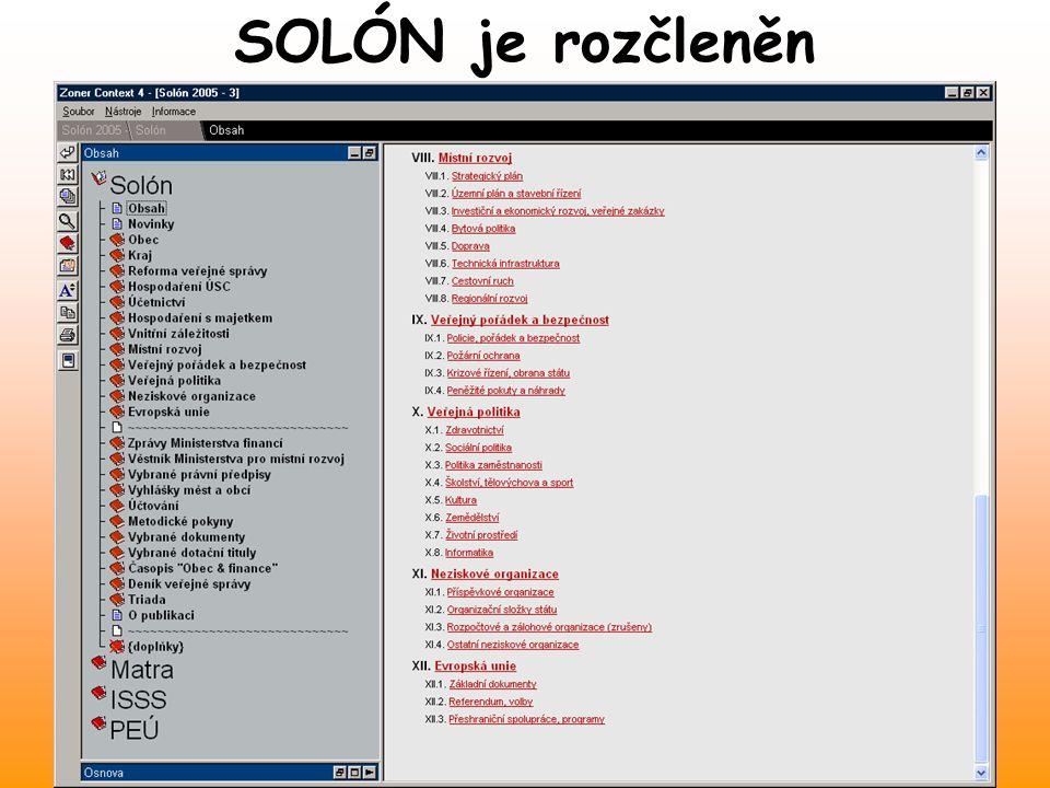 www.solon.cz SOLÓN AKTUÁLNĚ Solón obsahuje… - nový zákoník práce platný od 1.