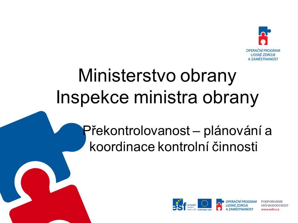 Ministerstvo obrany Inspekce ministra obrany Překontrolovanost – plánování a koordinace kontrolní činnosti
