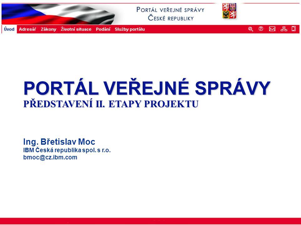 Portál veřejné správy © 2002 IBM Corporation ISSS 2003 Navrhované funkcionality a aplikace 1.