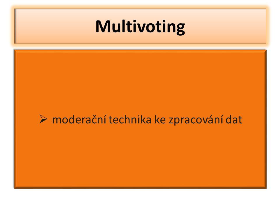  moderační technika ke zpracování dat Multivoting