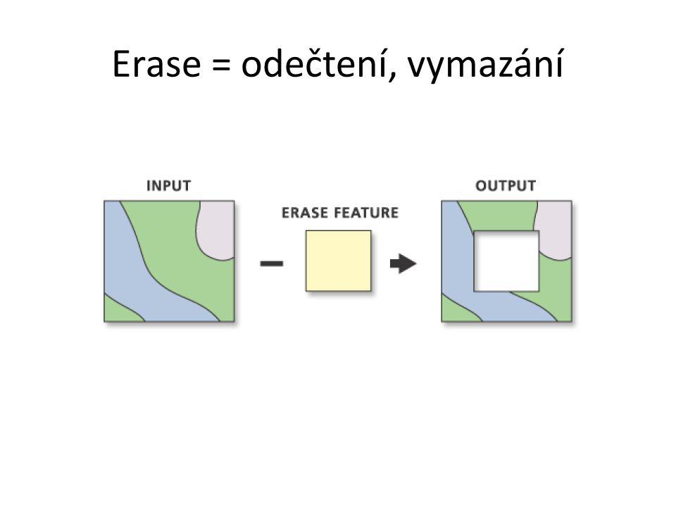 Erase = odečtení, vymazání