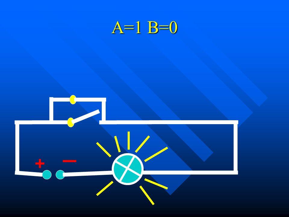 A=1 B=0