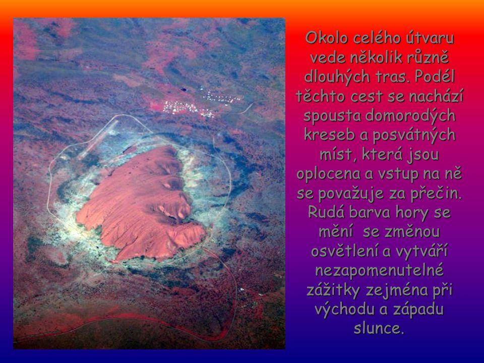 Od nepaměti byl domorodci uctíván jako sídlo jejich bohů. Prvním Evropanem, jenž spatřil Uluru, byl cestovatel Ernest Giles v r. 1872. Na vrchol jako