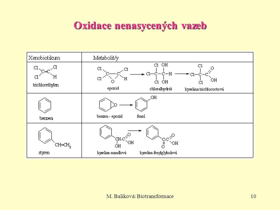 M. Balíková: Biotransformace10 Oxidace nenasycených vazeb