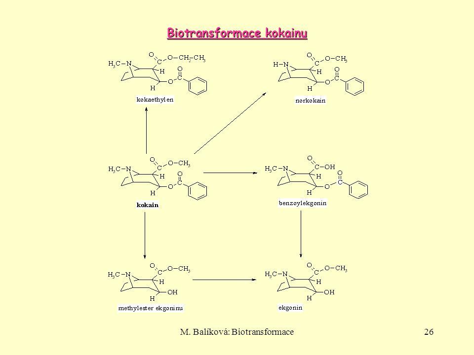 M. Balíková: Biotransformace26 Biotransformace kokainu