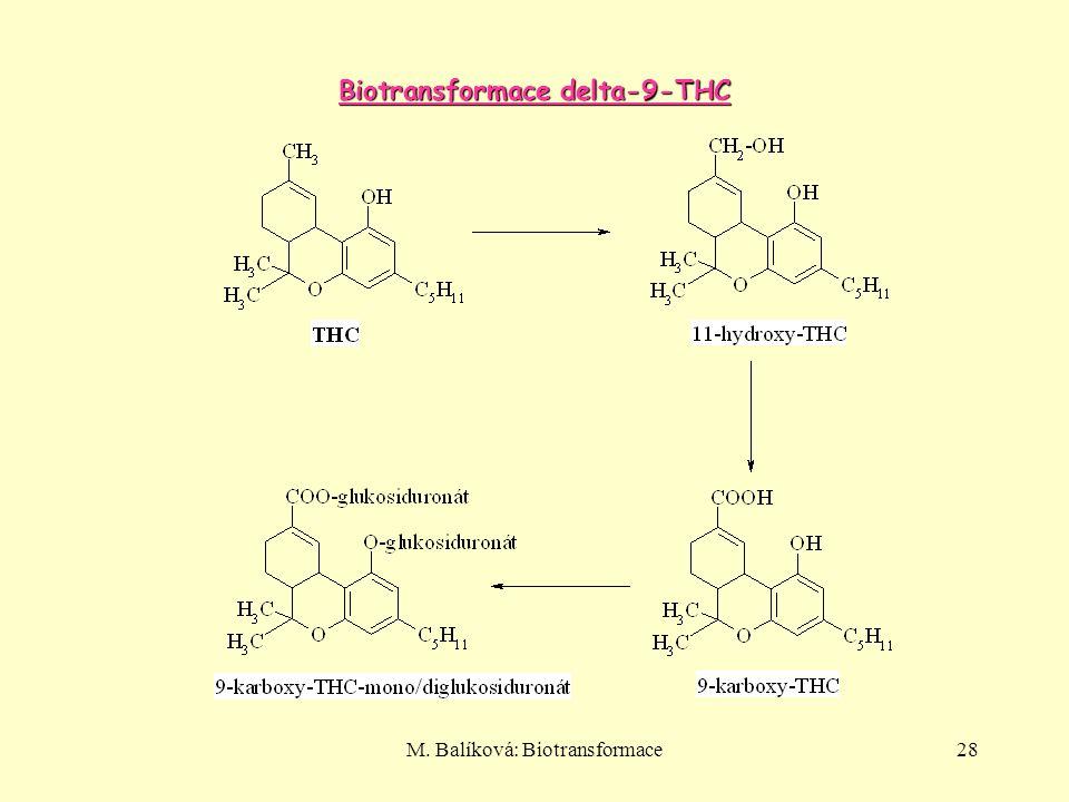 M. Balíková: Biotransformace28 Biotransformace delta-9-THC