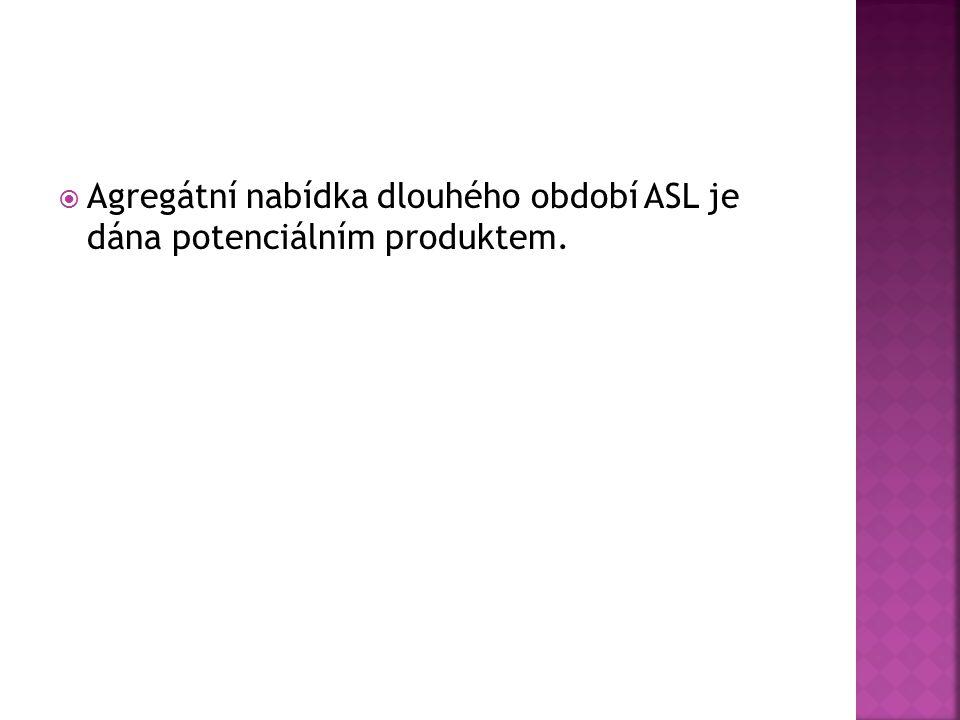  Agregátní nabídka dlouhého období ASL je dána potenciálním produktem.