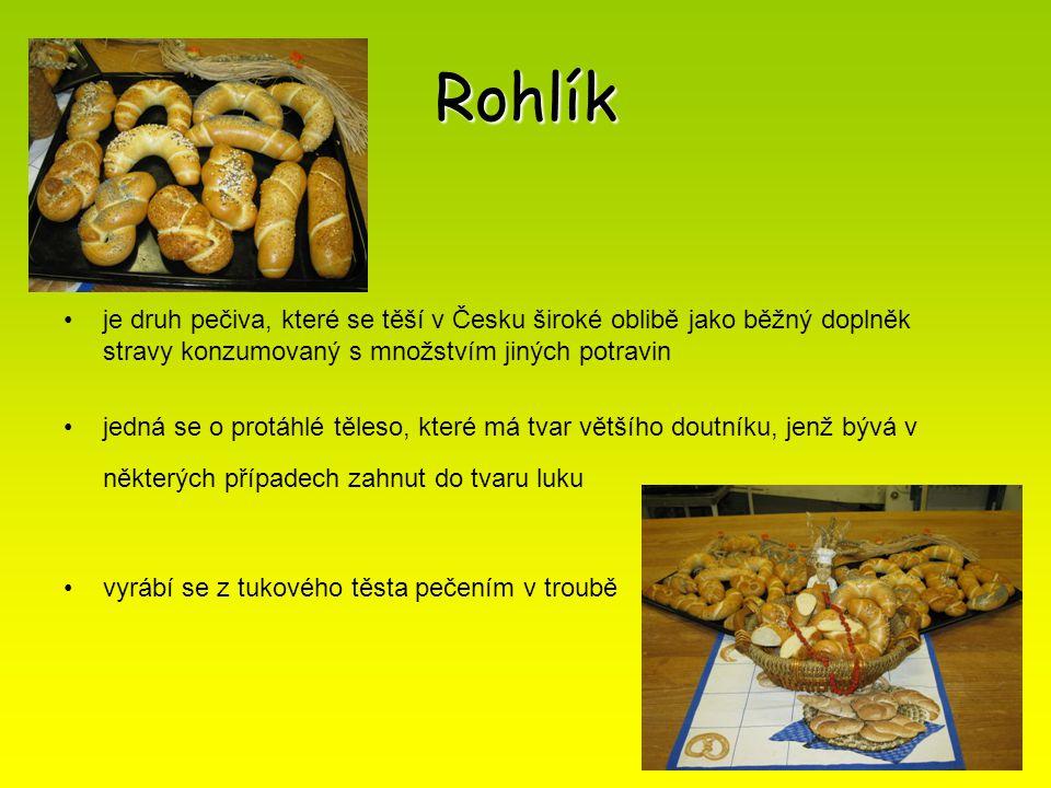 Rohlík je druh pečiva, které se těší v Česku široké oblibě jako běžný doplněk stravy konzumovaný s množstvím jiných potravin jedná se o protáhlé těles