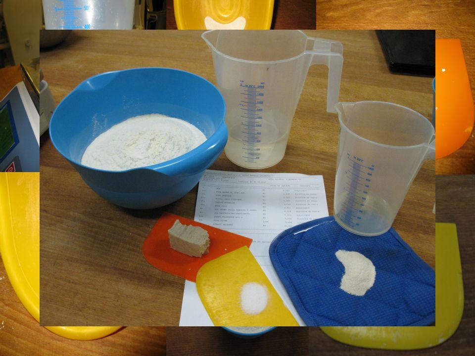 Pracovní postup Polohrubá mouka Žloutek Mléko Kvasnice Cukr Sůl Máslo Kmín