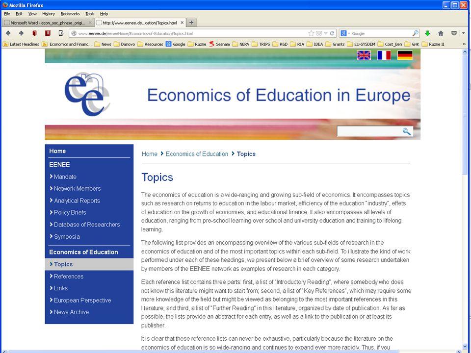 Východisko: Kvantitativní odhady empirického růstového modelu Hanushek a Woessmann