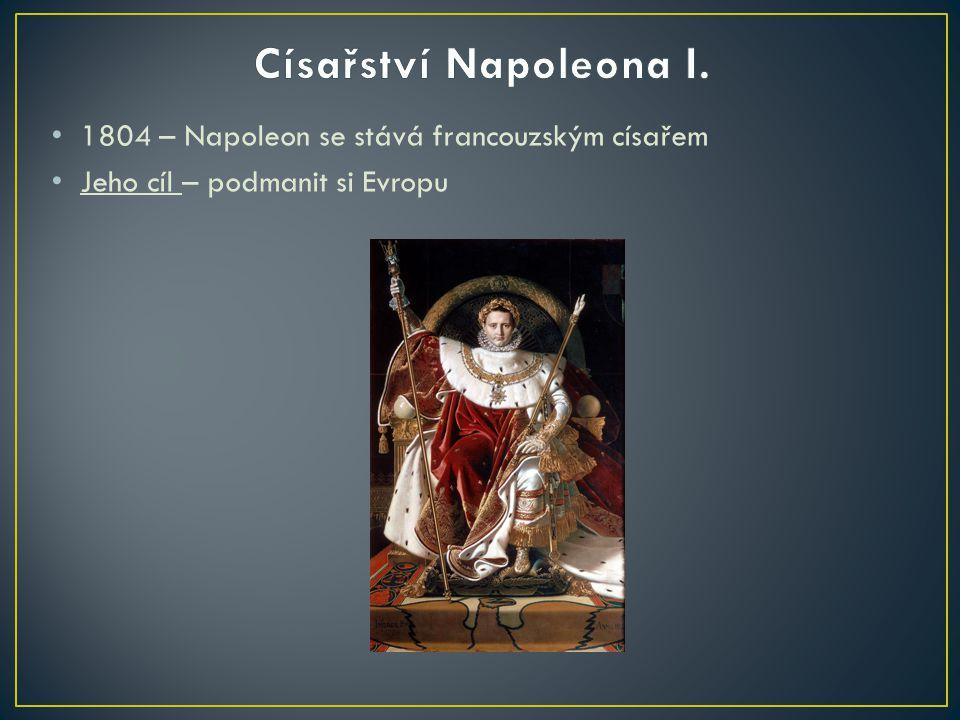 1804 – Napoleon se stává francouzským císařem Jeho cíl – podmanit si Evropu