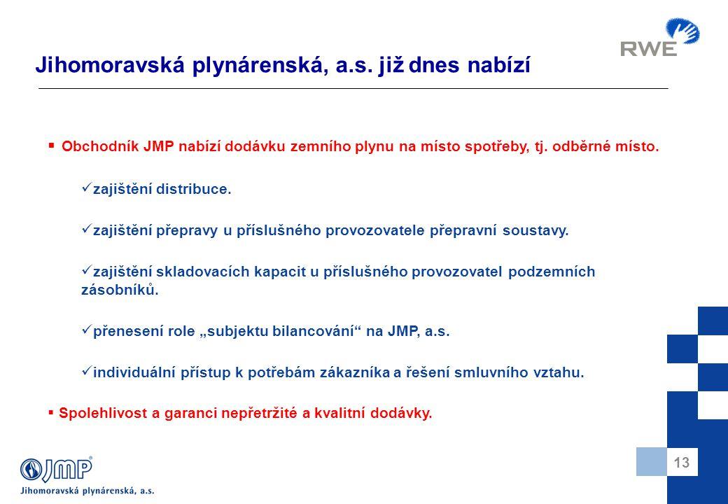 13 Jihomoravská plynárenská, a.s.