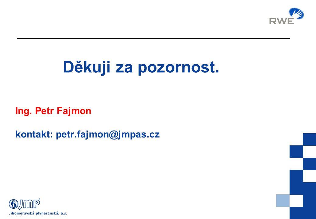 Děkuji za pozornost. Ing. Petr Fajmon kontakt: petr.fajmon@jmpas.cz