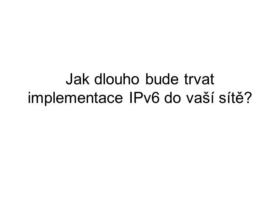 Jak dlouho bude trvat implementace IPv6 do vaší sítě
