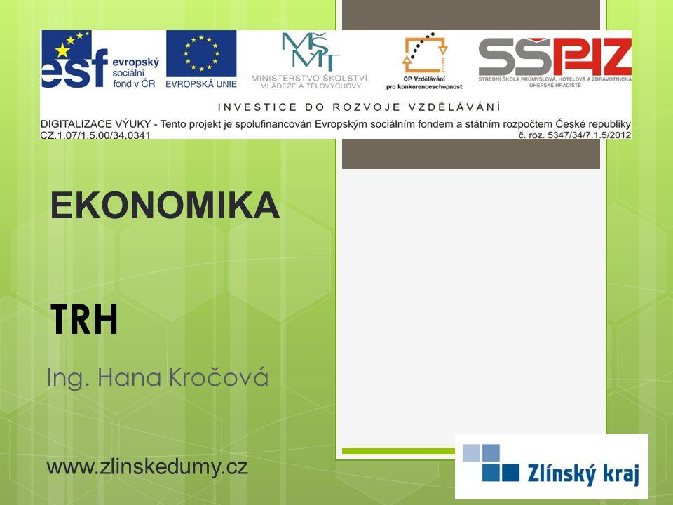 TRH Ing. Hana Kročová EKONOMIKA www.zlinskedumy.cz