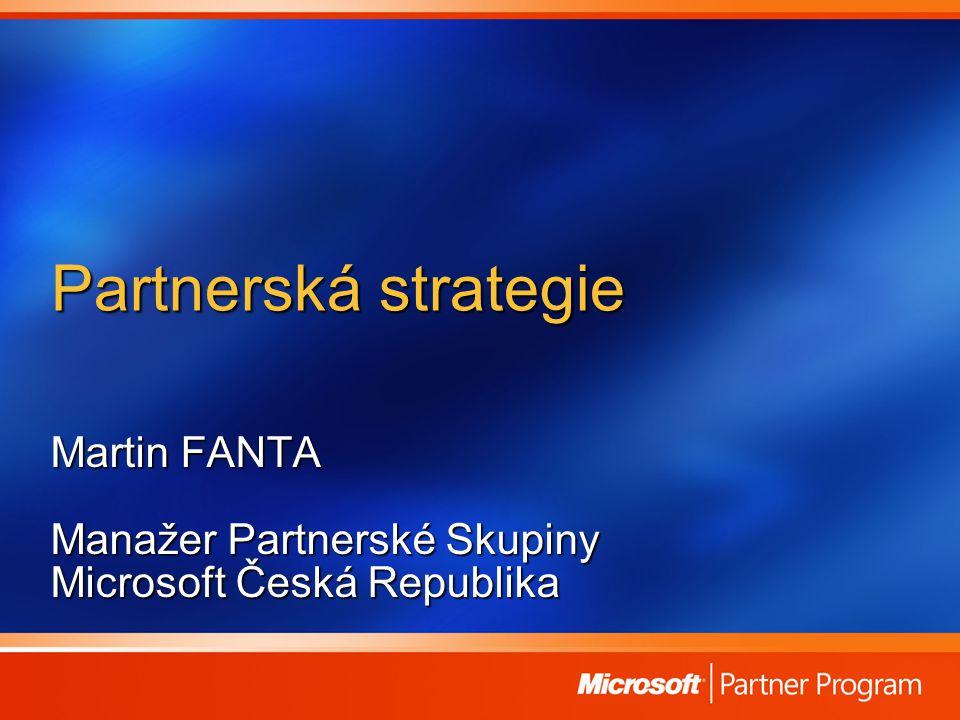 Partnerská strategie Martin FANTA Manažer Partnerské Skupiny Microsoft Česká Republika