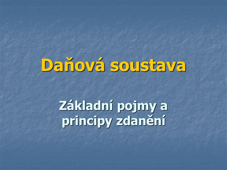 Soustava daní ČR Soustava daní ČR byla uzákoněna k 1.1.1993 a je tvořena těmito daněmi: Soustava daní ČR byla uzákoněna k 1.1.1993 a je tvořena těmito daněmi: A.