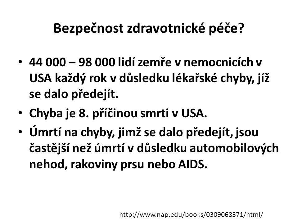 Bezpečnost zdravotnické péče.