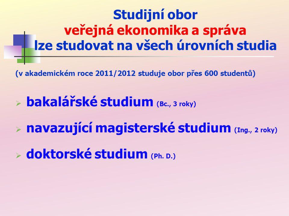 Studijní obor veřejná ekonomika a správa lze studovat ve dvou formách studia  prezenční forma (v Ostravě)  kombinovaná forma (v Ostravě a v Šumperku)