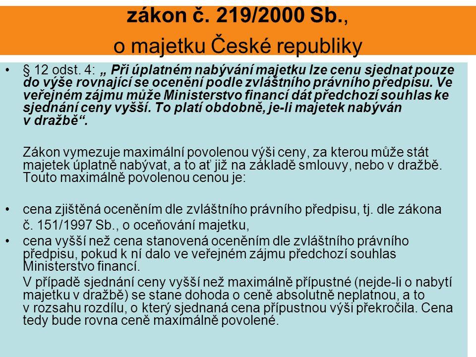 zákon č. 219/2000 Sb., o majetku České republiky § 12 odst.