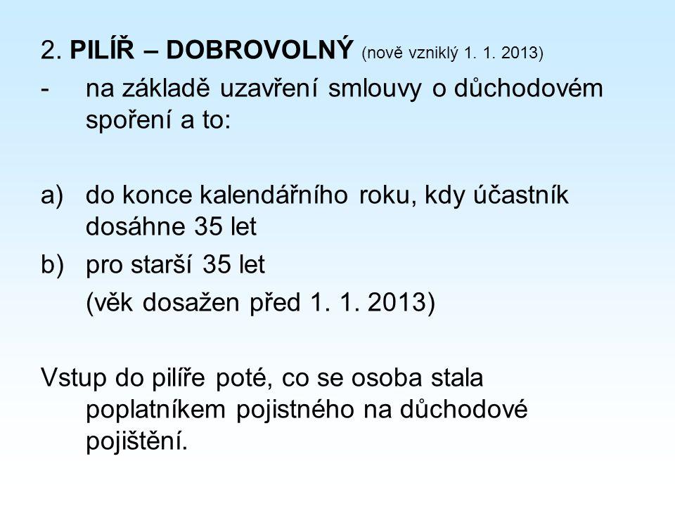 2. PILÍŘ – DOBROVOLNÝ (nově vzniklý 1. 1.