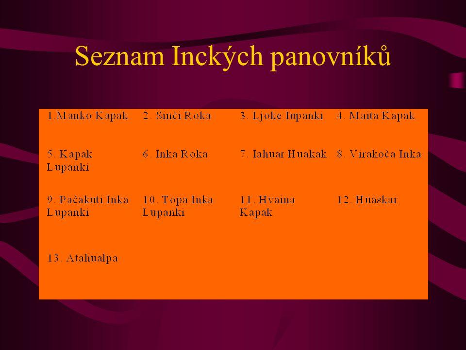 Seznam Inckých panovníků