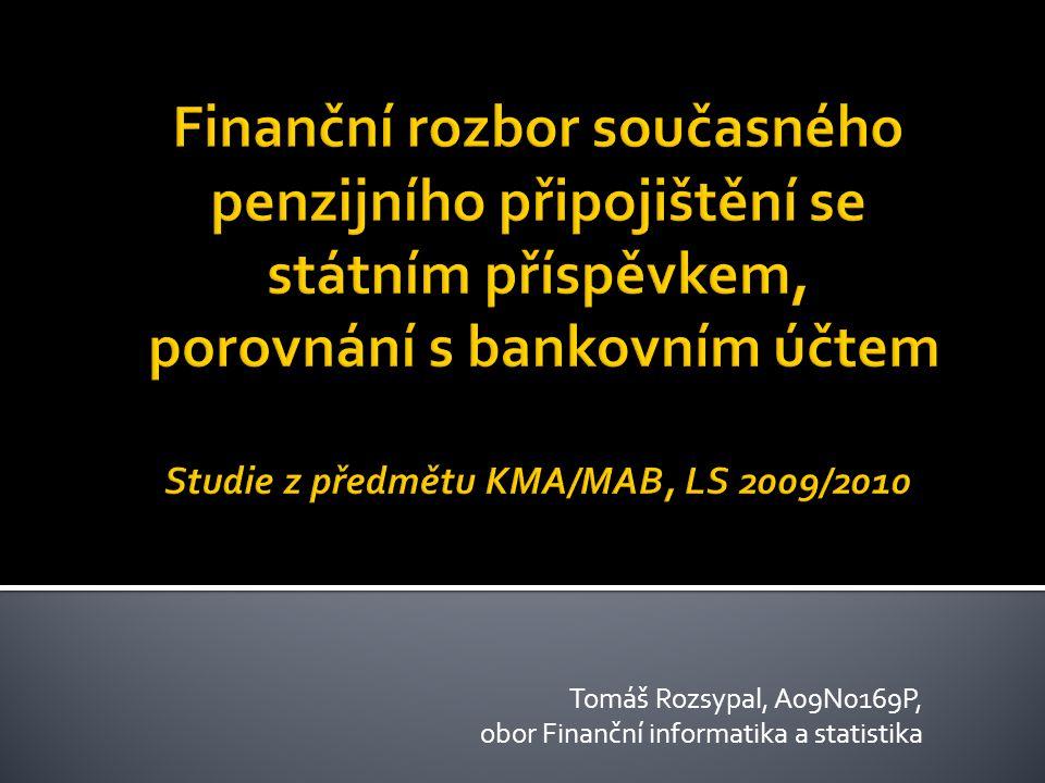Tomáš Rozsypal, A09N0169P, obor Finanční informatika a statistika