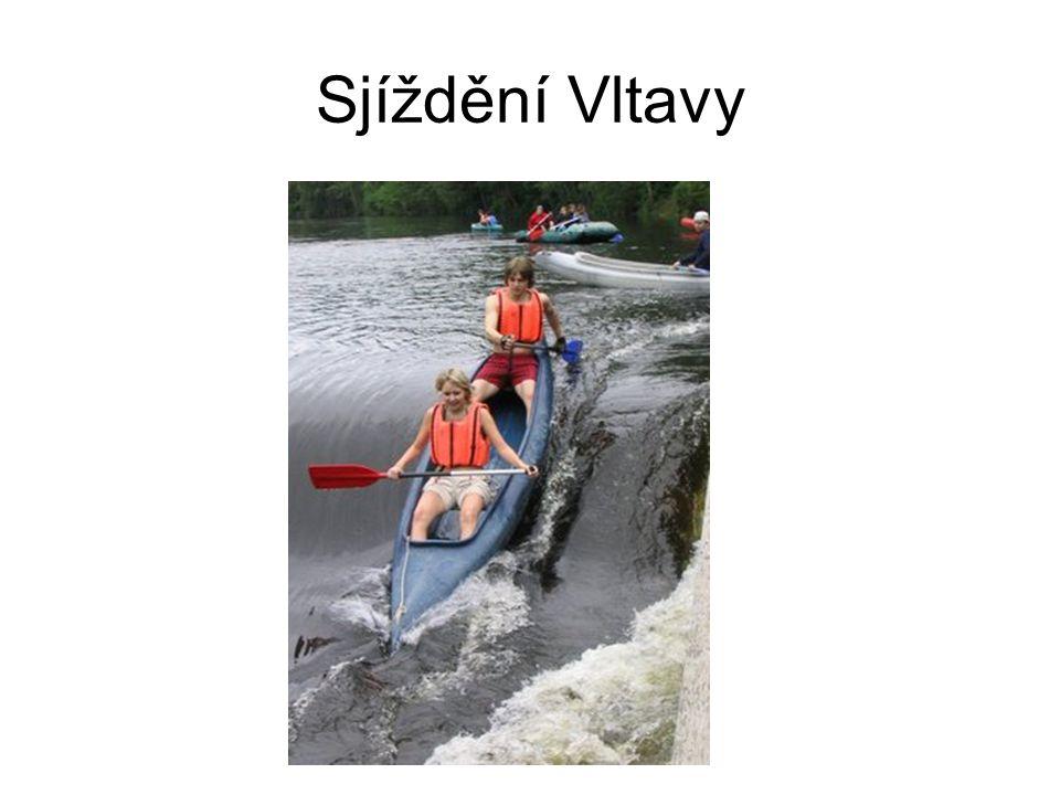 Sjíždění Vltavy