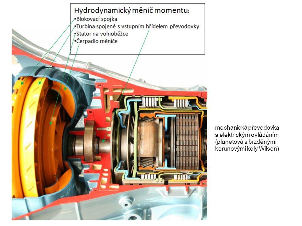 mechanická převodovka s elektrickým ovládáním (planetová s brzděnými korunovými koly Wilson)