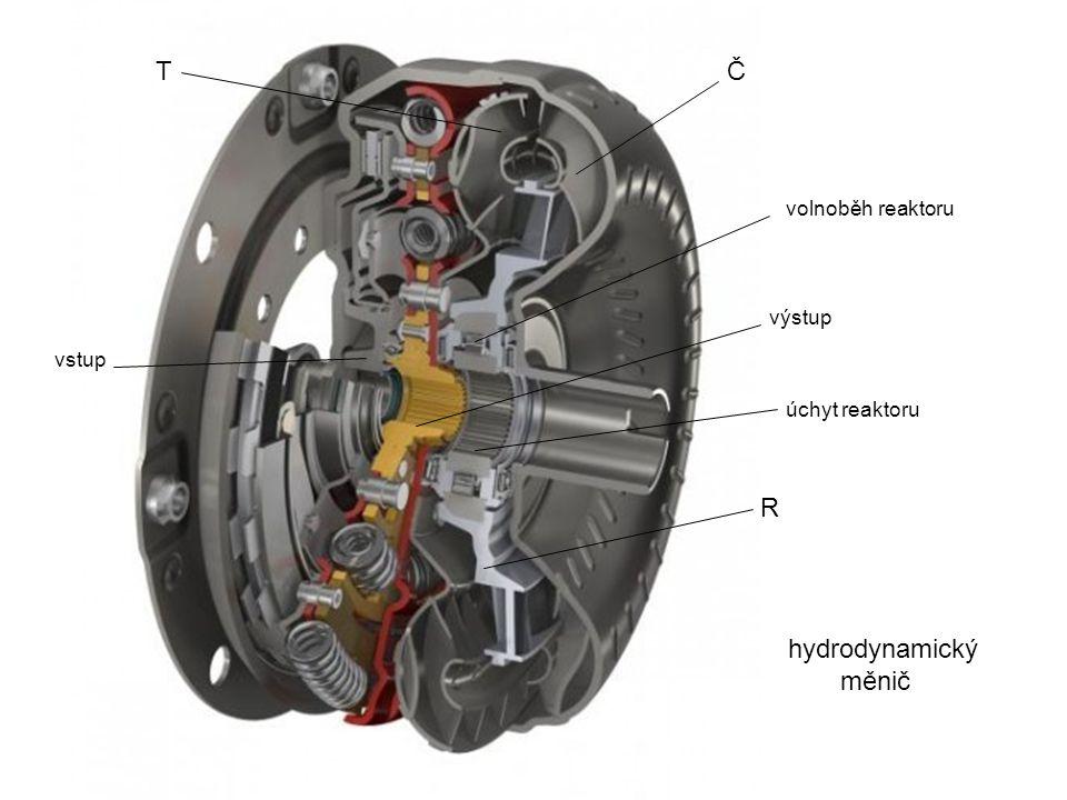 hydrodynamický měnič ČT vstup výstup R úchyt reaktoru volnoběh reaktoru