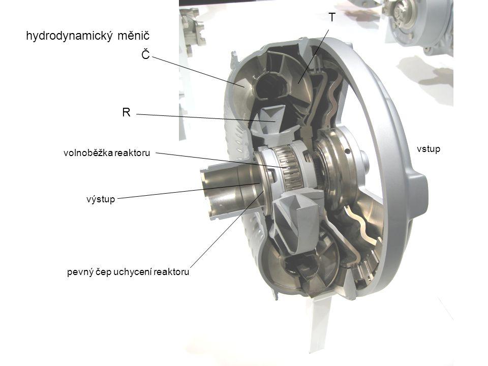 Č T R hydrodynamický měnič volnoběžka reaktoru pevný čep uchycení reaktoru vstup výstup