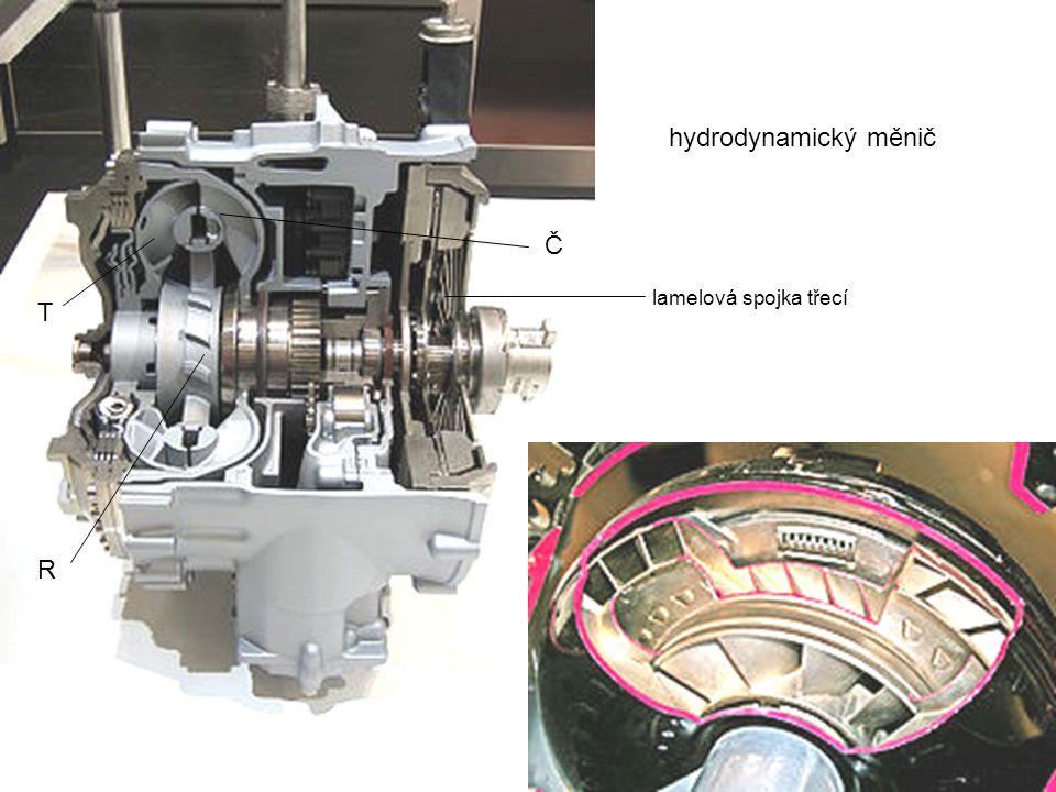 hydrodynamický měnič Č T R lamelová spojka třecí