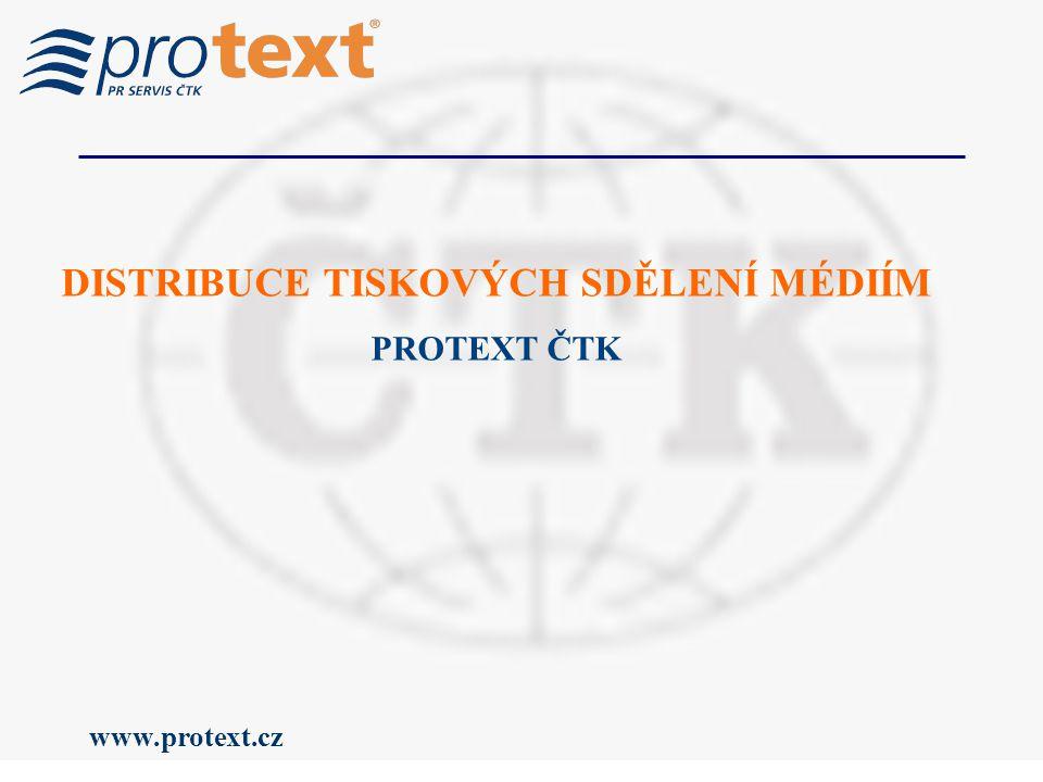 www.protext.cz DISTRIBUCE TISKOVÝCH SDĚLENÍ MÉDIÍM PROTEXT ČTK